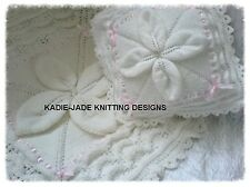 Knitting Pattern #80 (INSTRUCTIONS) Baby/Reborn Pram Cover & Pillow Set