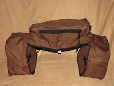 Insulated Cordura Nylon Western Horse Saddle Bag with Cantle Bag - Brown