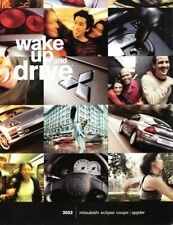 2002 02 Mitsubishi Eclipse & Spyder original brochure
