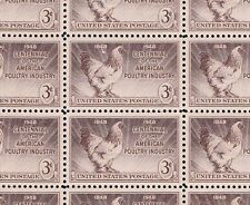 968    POULTRY      M NH  FULL  SHEET OF 50