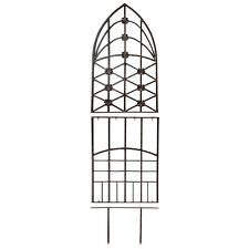 GAR309 H Potter Garden Trellis Wrought Iron Weather Resistant Patio Wall Art