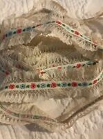 Vintage Lace Frilly Trim Ruffle Edging Trims Sewing  Costumes 1 1/4""