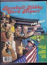 1984 Baseball Hobby Card Report Magazine W/T-206 Insert Sheet Honus Wagner
