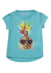 BNWT, Girls, S/sleeve, Pineapple, T-shirt, Child, Size 3, Green, Polyester/Linen