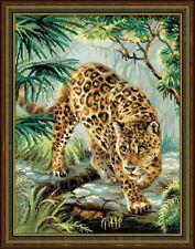 RIOLIS  1549  Broderie  Point de Croix  Compté  Propriétaire de la jungle