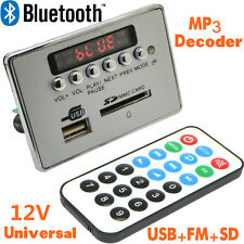 Universal 12V Lcd Digital Led Car Bluetooth Decoder Fm Radio With Remote Control