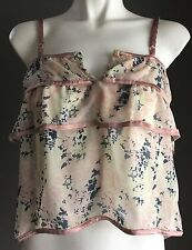 Beautiful Floral Print SPORTSGIRL Camisole Top Size XXS / 6 - Very Pretty!