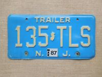 American number licence plate New Jersey vintage old car genuine embossed USA