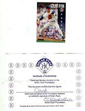 1995 NOLAN RYAN AUTOGRAPH ALL-STAR SET WITH C O A