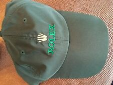 ROLEX BASEBALL CAP GREEN 100% MICROFIBER BRONZE  LOGO BUCKLE - NEW