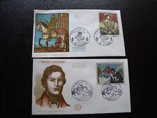 FRANCE - 2 envelopes 1st day 1966/1967 (crispin and scapin/françois 1st) (B12)