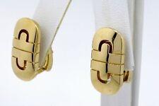 Bulgari Bvlgari Parentesi Earrings 18k Yellow Gold Omega Backs Stud Drop