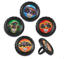 Monster Jam Truck Rally cupcake rings (24) favor cake topper 2 dozen