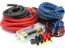 Gravity 4 Gauge Amp KIT Amplifier Install Wiring Set (OFC) BEST 4500 WATTS RED
