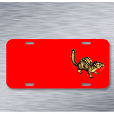 Animal Chipmunk Mammal Rodent On License Plate Car Front Add Names