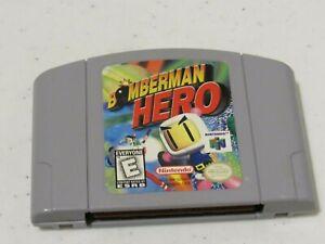 Bomberman Hero Nintendo 64 N64 Retro Video Game Cart Super Fun Astronaut Space