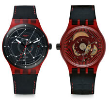 Swatch Sistema Red Reloj SUTR400 Analog Silicona Negro