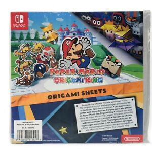 Nintendo Switch Paper Mario The Origami King Origami Sheets Sealed Brand New