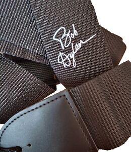 Custom personalised signature guitar strap for electric or acoustic guitar