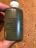 (5) Five Bottles Vintage Vietnam War 1969 Rifle Bore Cleaner  USGI OD