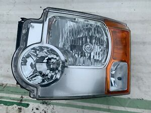 LAND ROVER DISCOVERY 3 N/S PASSANGER SIDE NON-XENON HEADLIGHT, BREAKING CARS