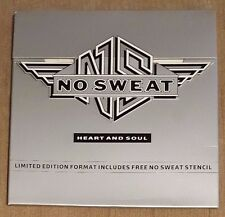 """NO SWEAT - Heart And Soul ~7"""" Vinyl Single *Limited Edition inc. STENCIL*"""