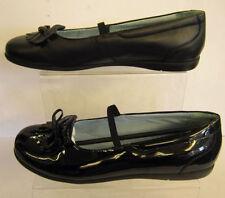 Chaussures noires à enfiler en cuir pour fille de 2 à 16 ans