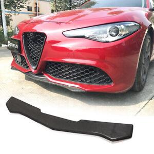 For Alfa Romeo Giulia Sport Sedan 17-20 Carbon Fiber Front Bumper Lip Spoiler