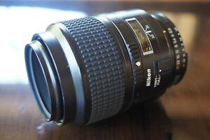 Nikon AF Micro-Nikkor 105mm f/2.8 D macro lens (please read full description).