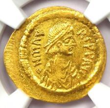 Byzantine Maurice Tiberius AV Semissis Gold Coin 582-602 AD - NGC MS (UNC)