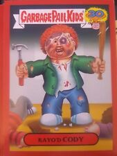 Garbage Pail Kids 2015 Series 2 30th 5b Kayo'd Cody RED Zoom-Out NrMt-Mint