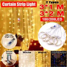 200LED Fairy Curtain String light for Xmas Christmas Wedding Party  !