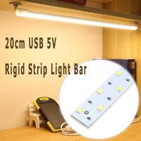 Portable 20cm USB 5V LED Rigid Strip Light Bar Cabinet Closet Tube Night Lamp