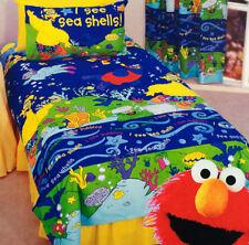 Sesame Street Quilt Doona Duvet Cover Set Boys Girls Bedding Kids Elmo Big Bird