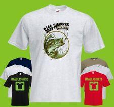 Bass Fishing Drop  A Line  PRINTED T-SHIRT  tee-shirt tshirt Art