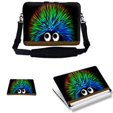 "Neoprene Laptop Bag w Shoulder Strap & Matching Skin Mouse Pad Fit 17.3""  2730"