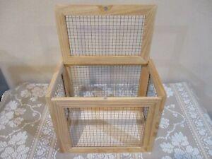 """Belfine Empty Wood Chocolate Bunny Cage, 7"""" L x 4.5"""" W x 5.875"""" T (1pc)"""