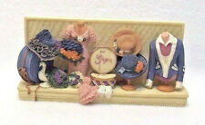 3D Shabby Cottage Chic Resin Wall Art Sculpture Sewing Room Hats Hatboxes 7.5""