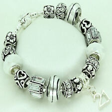 Womens Jewellery Silver White Bracelet 18th 21st 30th 40th 50th 60 Birthday Gift