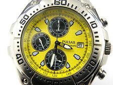 Gents Pulsar by Seiko 7T62-X098 Yellow Chrono Watch - 100m