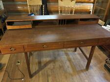 Danish Modern Peter Løvig Nielsen Dansk 1970 Teak Flip Top Desk