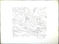 Vintage Etching Print, Knox Martin Signed, Dancing Nude II, Limited Edition 75