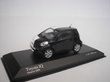 TOYOTA IQ GENEVE Car mostrar 2009 negro/Blanco 1/43 Minichamps 400166801 NUEVO