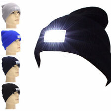 Cool 2 Batteries 5-LED Light Cap Warm Outdoor Hunting Camping Running Beanie Hat