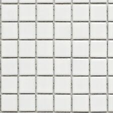 Keramikmosaik weiß glänzend WC Bad Wand Küchenrückwand Fliesen WB18D-0101|1Matte