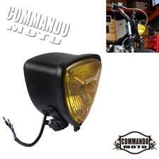 Retro Motorcycle Triangle Headlight Lamp Glass Lens For Harley Chopper Bobber