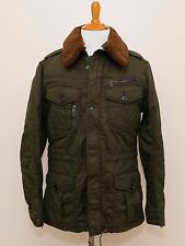 NEW Ralph Lauren Black Label Olive Green Military Winter Fur Trim Jacket Coat L