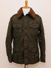 NEW Ralph Lauren Black Label Olive Green Military Winter Fur Trim Jacket Coat M