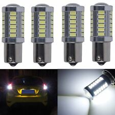 4X White LED 1156PY BAU15S PY21W 33SMD 5630 Stop Signal Tail Backup Light Bulb