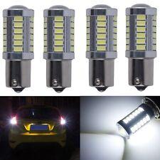 4X White LED 1156PY BAU15S P21W 33SMD 5630 Stop Signal Tail Backup Light Bulb